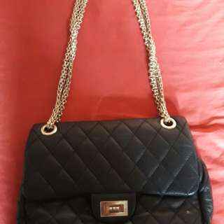 100% leather Chanel inspired sling bag