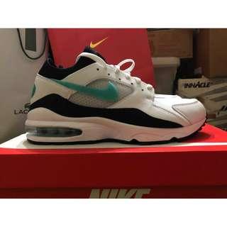 Nike Air max 93 OG 球鞋 男鞋 跑步鞋 tiffany綠 復古球鞋 306551 107