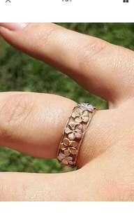 Ladies 9ct gold ring size N