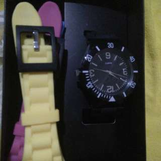 Brand New Women's Watch with multi colored strap