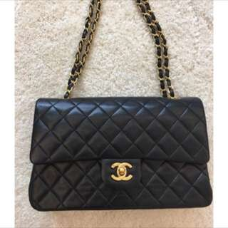 🚚 Vintage Chanel 25cm羊皮金鍊