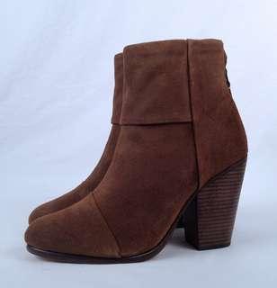 NEW! Rag & Bone Classic Newbury Ankle Boot Brown Waxed Suede 7.5 US 37.5 EU