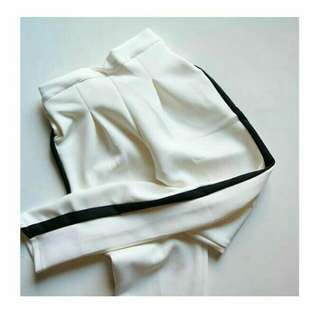 Bkk stripe pants white