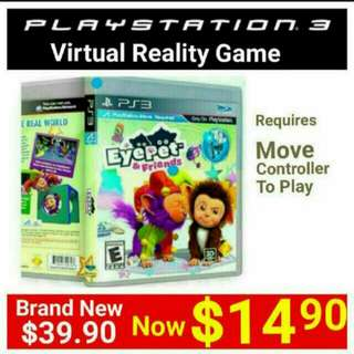 """[Brand New] PS3 EYEPET & FRIENDS  (Move Edition) Genre: Sony""""s first Virtual Reality Family game. Usual Price: $39.90. Special Offer: $12.90  + Free Mail Shipping  (Brand New & Sealed) Or whatsapp  85992490 to  Pickup From Mrt Stn In Town"""