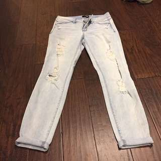 Bebe Ripped Jeans -Size 27