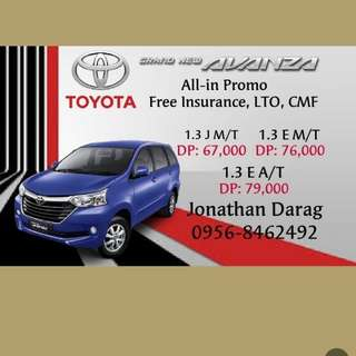 Toyota Avanza 2018 Allin Promo Low Down Pament