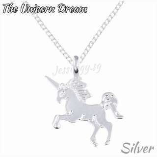 INSTOCK The Unicorn Dream - Unicorn Necklace in Silver / Gold