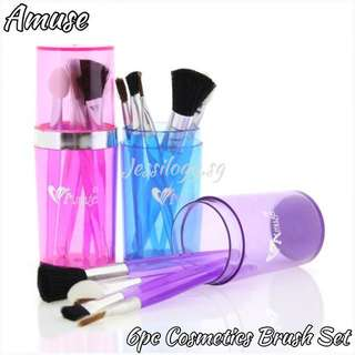 INSTOCK Amuse 6pc Brush Set / Amuse 6 pc Travel Cosmetics Brush Set in BLUE