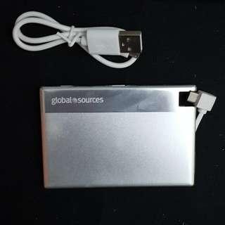 卡片型充電器750mAh