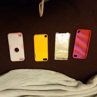 Ipod Cases + screen protector