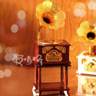 Nostalgic Standing Phonograph music box