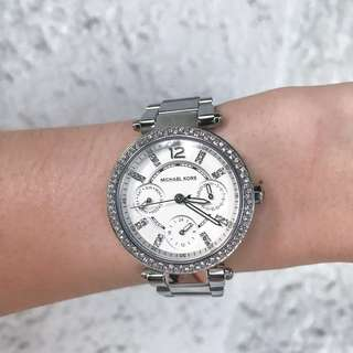 Michael Kors Parker Silver Tone Watch