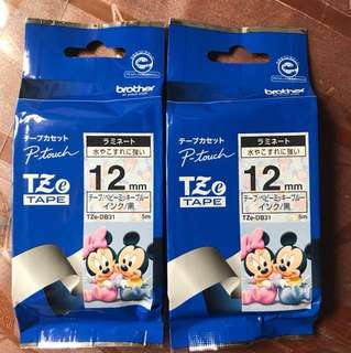 Brother p-touch baby Disney mickey and Minnie label tze 12mm