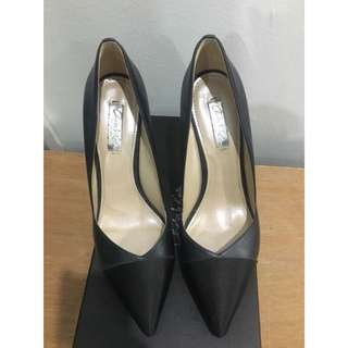 Charles & Keith Pointed Pumps with cap toe
