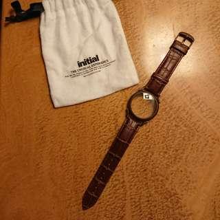 全新initial 手錶形首飾