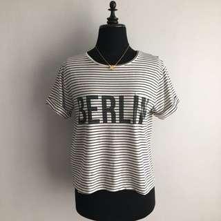 MANGO berlin printed cropped top