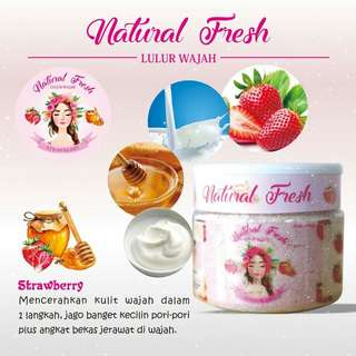 Lulur wajah strawberry