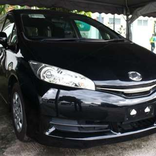 TOYOTA WISH 1.8 X 2013 BLACK AUTO MPV FAMILY CAR