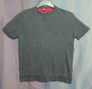 Preloved Gray Shirt Top