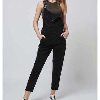 Topshop faded black overalls
