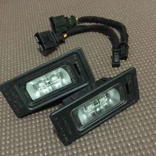 奥迪A7 A4L TT Q5 A5 R36 改装 LED 牌照板灯 LED 後車廂燈