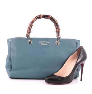 GUCCI Bamboo Shopper Tote (Medium) in nice Blue Colour