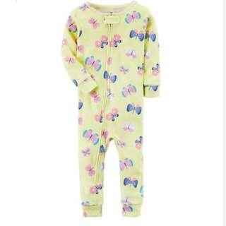 Carter's butterfly footless Pyjamas