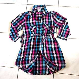 Checkered dress/long blouse