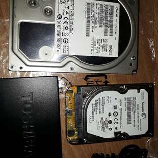 HITACHI HD 2TB & TOSHIBA HD 500BG