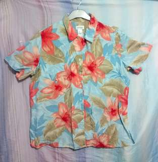Preloved Floral Button-Down Summer Shirt