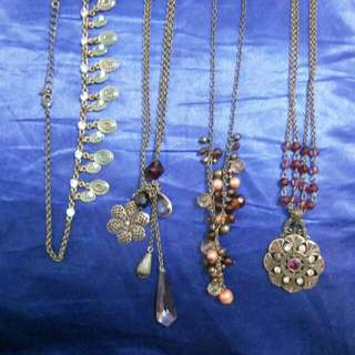 Assorted  fashion necklaces