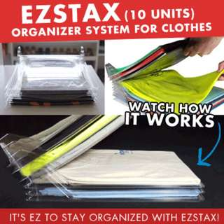 EZSTAX 1 pack(10 units) Organizer system for Clothes ♥ Closet ♥ Drawer ♥ File ♥ Desk ♥ Office