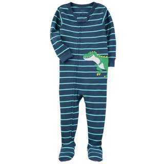 Carter's dinosaur Footed Sleepsuit