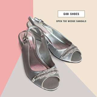 Gibi Silver Wedge Shoes