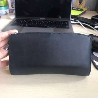 *** Preloved Charles & Keith Black Long Wallet ***