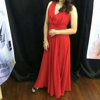 FOR RENT RED LONG DRESS