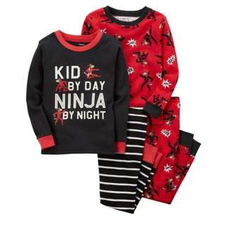 4 Piece Carter's Ninja Pyjamas Set