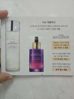 [sample] Missha Time Revolution First Treatment Essence & Night Repair Borabit Ampoule