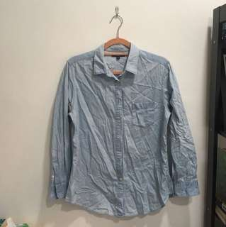 Uniqlo Long Sleeves Chambray Shirt