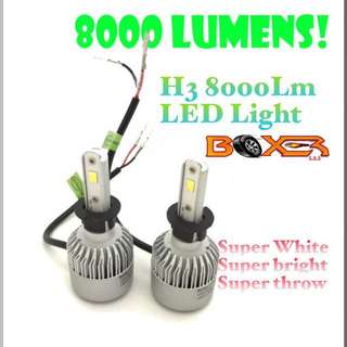 H3 8000Lm LED light