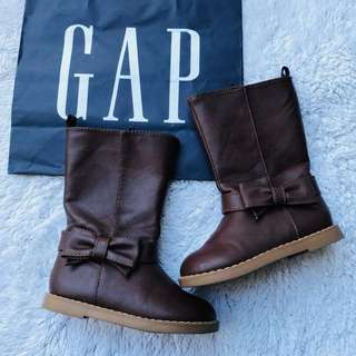 Gap brown boots kids 3-4yo