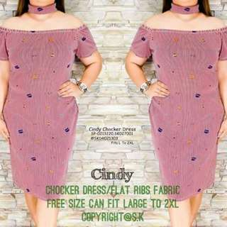Cindy choker dress fits L-2XL