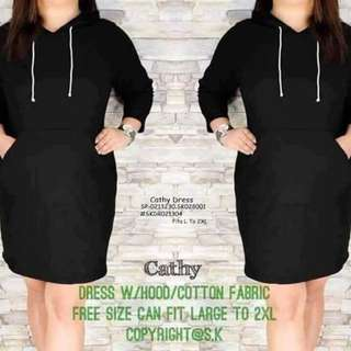 Cathy hoodie dress fits L-2XL