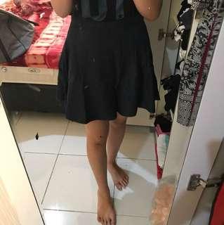 Jeans flare skirt (mini skirt)
