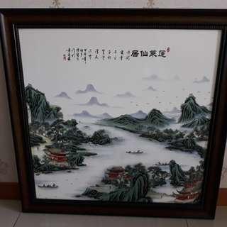 Chinese Painting (ceramic)