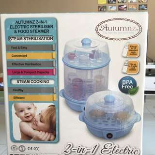 Autumnz 2 In 1 Electric Sterilizer And Food Steamer