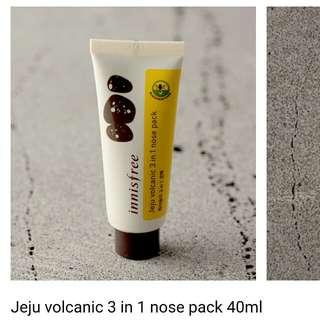 🚚 Innisfree 濟州火山岩泥 3 in 1鼻頭清潔膜
