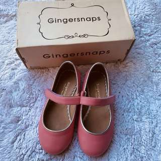 Gingersnaps peach doll shoes size 27 4 or 5yo