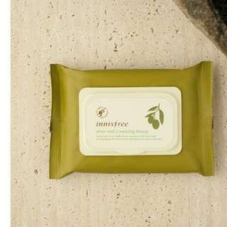 🚚 Innisfree 橄欖精華卸妝紙巾 30p