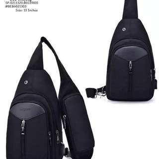 USB body bag ✔️5 compartments ✔️coded lock ✔️headset hole ✔️sidehandle ✔️free USB data wire ✔️size : 13 inches